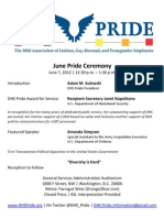 DHS Pride - June Pride Ceremony Flier