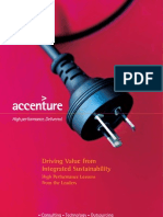 Accenture Driving Value From Integrated Sustainability