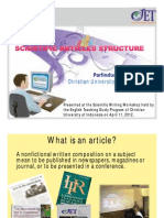 Scientific Articles Structure-2012