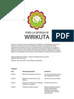 Foro La Defensa de Wirikuta