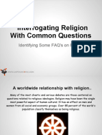 Interrogating Religion With Common Questions
