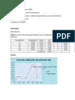 Trabajo de curva de calibración