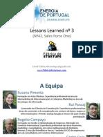 Energia da Portugal - Lessons Bootcamp nº3