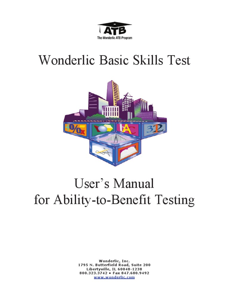 Manual wonderlic test assessment national assessment of manual wonderlic test assessment national assessment of educational progress fandeluxe Choice Image