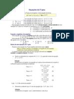 Equações de 2º grau