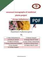 Botanical Monograph Project Belladonna