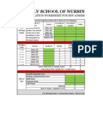 UNLV HESI Calculation Worksheet