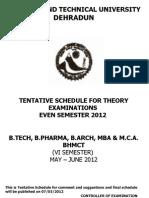 28.04.2012 Exam Schedule 3rd Yr