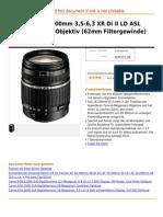Tamron AF 18-200mm 3,5-6,3 XR Di II LD ASL Macro digitales Objektiv (62mm Filtergewinde) für Canon