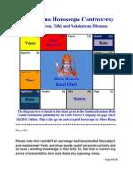 Shree Rama's Horoscope Controversy