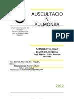 Protocolo de Auscultacion Pulmonar 2012