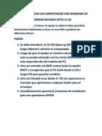 Como Formatear Un or Con Windows Xp