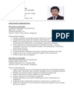 Resume for Mech Engr.