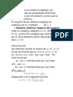El conjunto de los números complejos
