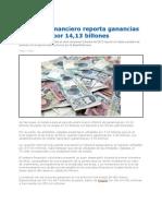 Sistema Financiero Reporta Ganancias Por 1413 Billones