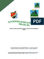 Plan Municipal de Educacion Ambiental 2011