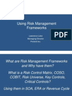 Using Risk Management Frameworks