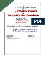 72754394 MBA PROJECT Reliance Communication HR Asha Rani
