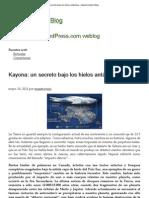 Kayona_ un secreto bajo los hielos antárticos « Maestroviejo's Blog