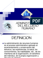Admon. Del Recurso Humano.