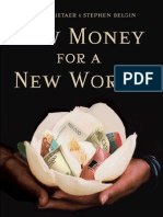 Bernard Lietaer - New Money For A New World full pdf ebook