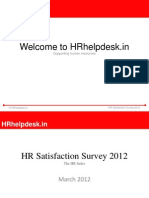 HR Satisfaction Survey 2012-Free Report