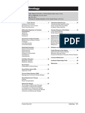 17 - Toronto Notes 2011 - Nephrology | Renal Function | Kidney