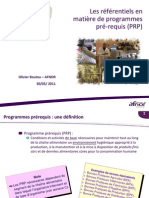 Panorama Des Referentiels PRP