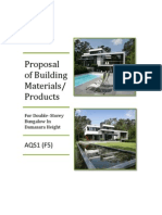 Proposal of Building Materials