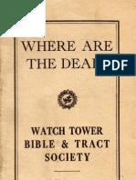 1919 Where Are the Dead