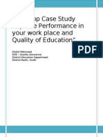 Case study of works place and quality of edu.doc