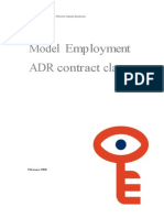 CEDR Model Employment Contract Clauses