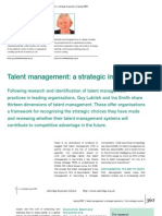 Talent Management a Strategic Imperative