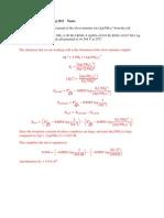 Chem 336 Quiz 4Solution