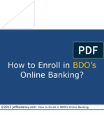 How to Enroll in BDO's Online Banking