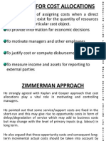 ABSORPTION COSTING FOR DECISION MAKING - ZIMMERMAN APPROACH