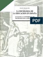 1990 La Sociología de la Educación en España