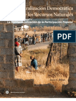 Descentralizacion de Recursos Naturales