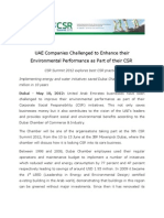 UAE Companies Challenged to Enhance their Environmental Performance as Part of their CSR