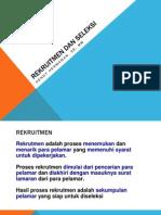 MSDM - Rekruitmen Dan Seleksi