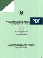 Accident Investigation Blackspot Treatment Fajaruddin Mustakim 2006