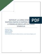 Diateza Pasiva Si Reflexiva a Verbelor Regulate