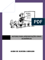 Roteiro Para Apresentacoes Orais Academic As Prof.guido