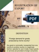 Export Registration Proceedure AKHIL