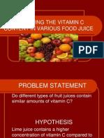 Determing the Vitamin c Content in Various Food