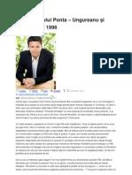 Cristian Turturica _ Miza Razboiului Ponta- Ungureanu Si Lectia Anului 1996