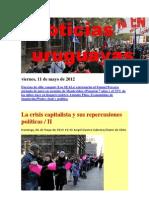 Noticias Uruguayas Viernes 11 de Mayo 2012