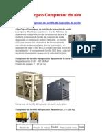 AtlasCopco Compresor de tornillo de inyección de aceite