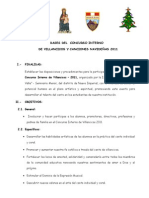 BASES DEL I CONCURSO interno DE VILLANCICOS Y CANCIONES NAVIDEÑAS 2008