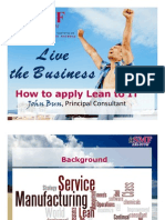 How to Apply Lean to IT